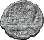 reverse:  C. Scribonius. AE Quadrans, 154 BC.
