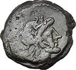 obverse:  Spurius Afranius. AE Semis, 150 BC.