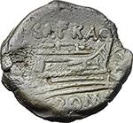 reverse:  Spurius Afranius. AE Semis, 150 BC.