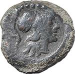 obverse:  Q. Marcius Libo.  AE Triens, 148 BC.