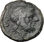 obverse:  C. Curiatius Trigeminus.  AE Semis, 135 BC.