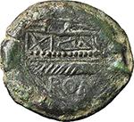 reverse:  C. Numitorius (?). AE Semis, 133 BC.
