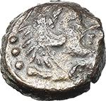 obverse:  Q. Caecilius Metellus (?). AE Quadrans, after 82 BC. Unofficial issue (?).