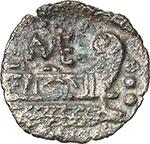 reverse:  Q. Caecilius Metellus (?). AE Quadrans, after 82 BC. Unofficial issue (?).