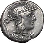 obverse:  C. Servilius Vatia. AR Denarius, 127 BC.