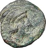 obverse:  Q. Fabius Maximus. AE Quadrans, 127 BC.