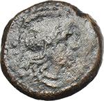obverse:  L. Hostilius Tubulus. AE Uncia, 105 BC.