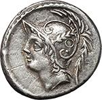 obverse:  Q. Thermus M.f. AR Denarius, 103 BC.