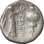 reverse:  P. Sabinus. AR Quinarius, 99 BC.