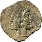 obverse:  D. Silanus AE As, 91 BC.