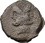 obverse:  L. Piso Frugi. AE As, 90 BC.