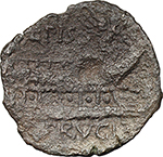 reverse:  L. Piso Frugi. AE As, 90 BC.