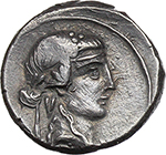 obverse:  Q. Titius. AR Denarius, 90 BC.