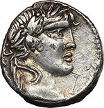 obverse:  C. Vibius C.f. Pansa. AR Denarius, 90 BC.