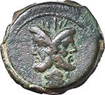 obverse:  L. Titurius L. f. Sabinus. AE As, 89 BC.