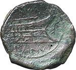 reverse:  L. Titurius L. f. Sabinus. AE As, 89 BC.