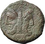 obverse:  L. Rubrius Dossenus. AE As, 87 BC.