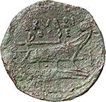 reverse:  L. Rubrius Dossenus. AE As, 87 BC.