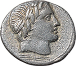 obverse:  Gar, Ogul, Ver. AR Denarius, 86 BC.