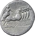 reverse:  Gar, Ogul, Ver. AR Denarius, 86 BC.