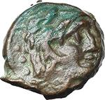obverse:  Anonymous series, prow left. AE Quadrans, 86 BC.