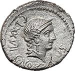 obverse:  C. Norbanus. AR Denarius, 83 BC.