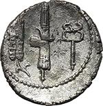 reverse:  C. Norbanus. AR Denarius, 83 BC.