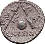 reverse:  Cn. Lentulus. AR Denarius, 76-75 BC.