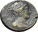 obverse:  Julius Caesar. AE Dupondius, C. Clovius, Prefect. 45 BC. North Italian mint.