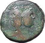 obverse:  Sextus Pompey. As, Sicily after 45 B.C.