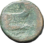reverse:  Sextus Pompey. As, Sicily after 45 B.C.