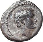 obverse:  Mark Antony. AR Denarius, c. 42 BC.