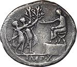 reverse:  Augustus (27 BC - 14 AD). AR Denarius, 15-13 BC. Lugdunum mint.