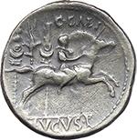 reverse:  Augustus (27 BC - 14 AD.). AR Denarius, 8 BC. Lugdunum mint.