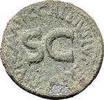 obverse:  Augustus (27 BC - 14 AD). AE Dupondius. Moneyer C. Gallius Lupercus, 16 BC.