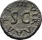 reverse:  Augustus (27 BC - 14 AD). AE Quadrans. Struck 9 BC. Moneyers Lamia, Silius, and Annius.