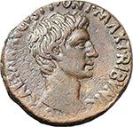 obverse:  Augustus (27 BC. - 14 AD.). AE As, c. 8-7 BC.