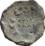 reverse:  Augustus (27 BC - 14 AD). AE 27 mm, Iulia Traducta (Hispania).