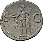 reverse:  Agrippa (died 12 BC.). AE As, struck under Tiberius or Caligula.