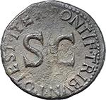 reverse:  Drusus, son of Tiberius (died 23 AD). AE As, Rome mint. Struck under Tiberius, 22-23 AD.