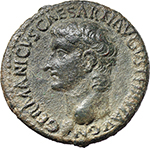 obverse:  Germanicus (died 19 AD). AE As, struck under Caligula.