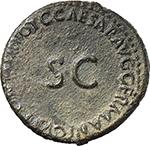 reverse:  Germanicus (died 19 AD). AE As, struck under Caligula.