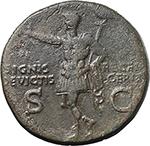 reverse:  Germanicus (died in 19 AD.). AE Dupondius, struck under Caligula.