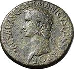 obverse:  Gaius called Caligula (37-41). AE Sestertius, 37-38 AD.