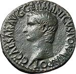 obverse:  Gaius called Caligula (37-41). AE As, circa 37-38 AD.