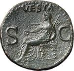 reverse:  Gaius called Caligula (37-41). AE As, circa 37-38 AD.