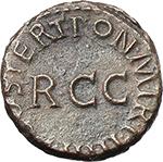 reverse:  Gaius called Caligula (37-41). AE Quadrans. Struck 40-41 AD.
