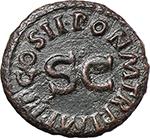reverse:  Claudius (41-54). AE Quadrans, 41-42 AD.