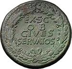 reverse:  Claudius (41-54). AE Sestertius, 41-50 AD.