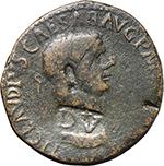 obverse:  Claudius (41-54). AE Sestertius (Dupondius), provincial mint or imitation.